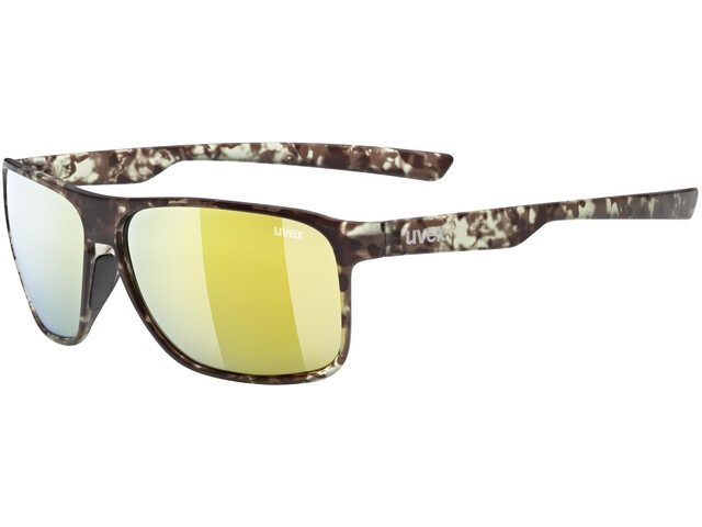UVEX LGL 33 Pola Glasses havanna mat/mirror yellow